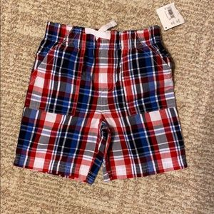 Other - 5/$15 NWT Boys 4t red white and blue plaid shorts